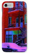 Winter Staircases Two IPhone Case