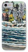 Winter Thaw Gatineau River IPhone Case by Patricia Eyre