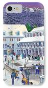 Wintertime At Waterville Valley New Hampshire IPhone Case by Nancy Griswold