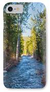 Wolf Creek Flowing Downstream  IPhone Case by Omaste Witkowski
