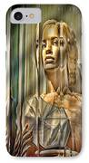 Woman In Glass IPhone Case by Chuck Staley