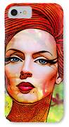 Woman With Earring IPhone Case by Chuck Staley