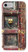 Wooden Door IPhone Case by Catherine Arnas
