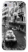 Working On The Canal IPhone Case by John Rizzuto