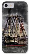 World's Oldest Commissioned Warship Afloat - Uss Constitution IPhone Case by Ludmila Nayvelt