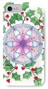 X'mas Wreath IPhone Case by Keiko Katsuta