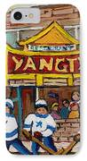 Yangtze Restaurant With Van Horne Bagel And Hockey IPhone Case by Carole Spandau
