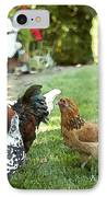 Yard Party With The Chickens IPhone Case by Artist and Photographer Laura Wrede