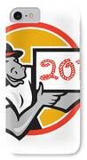 Year Of Horse 2014 Showing Sign Cartoon IPhone Case
