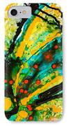Yellow Abstract IPhone Case by Sharon Cummings