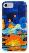 Yellow Orange Blue Sunset Landscape IPhone Case by Patricia Awapara