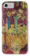 Yellow Table IPhone Case by Karen Coggeshall