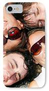 Young Friends Together IPhone Case by Michal Bednarek