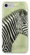 Zebra IPhone Case by James W Johnson