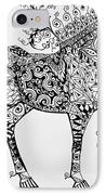 Zentangle Circus Horse IPhone Case by Jani Freimann