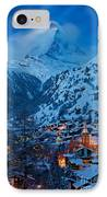 Zermatt - Winter's Night IPhone Case by Brian Jannsen