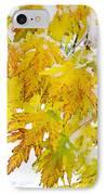 Autumn Snow Portrait IPhone Case by James BO  Insogna