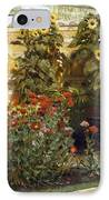 Corner Of A Roman Garden IPhone Case by Sir Lawrence Alma-Tadema