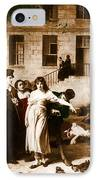 Pitie-salpetriere Hospital, 1795 IPhone Case by Photo Researchers