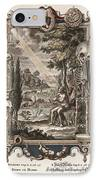 1731 Johann Scheuchzer Creation Of Man IPhone Case