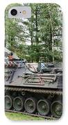 A Leopard 1a5 Mbt Of The Belgian Army IPhone Case by Luc De Jaeger