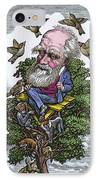 Charles Darwin In His Evolutionary Tree IPhone Case
