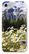 Daisies At Mount Robson Provincial Park IPhone Case