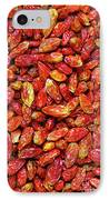 Dried Chili Peppers IPhone Case by Carlos Caetano
