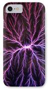 Electrical Discharge Lichtenberg Figure IPhone Case by Ted Kinsman
