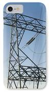 Electricity Pylons Against A Clear Blue IPhone Case
