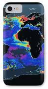 False-col Satellite Image Of Worlds IPhone Case by Dr. Gene Feldman, NASA Goddard Space Flight Center