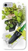 Gardening Tools And Plants IPhone Case by Elena Elisseeva