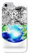 Globe With Cogs And Gears IPhone Case