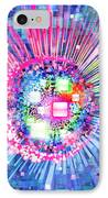 Lighting Effects And Graphic Design IPhone Case by Setsiri Silapasuwanchai