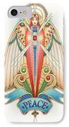 Scroll Angels - Pax IPhone Case by Amy S Turner