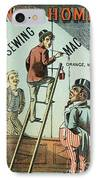 Sewing Machine Trade Card IPhone Case by Granger