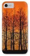 Silhouette Of Trees Against Sunset IPhone Case
