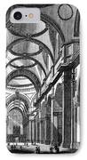 St. Paul's Cathedral, Historical Artwork IPhone Case by Middle Temple Library