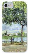 The Avenue Of Chestnut Trees IPhone Case by Alfred Sisley