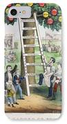 The Ladder Of Fortune IPhone Case by Currier and Ives