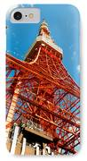 Tokyo Tower Face Cloudy Sky IPhone Case by Ulrich Schade