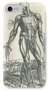 Vesalius De Humani Corporis Fabrica IPhone Case by Science Source