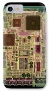 X-ray Of Sound Card IPhone Case by D. Roberts