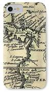 1698 W. Dampier Pirate Naturalist Map IPhone Case