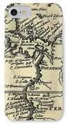 1698 W. Dampier Pirate Naturalist Map IPhone Case by Paul D Stewart