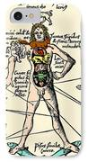 16th-century Medical Astrology IPhone Case by Cordelia Molloy