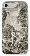 1731 Scheuchzer Creation Adam & Eve IPhone Case by Paul D Stewart