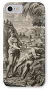1731 Scheuchzer Creation Adam's Rib & Eve IPhone Case by Paul D Stewart
