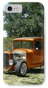 1929 Ford Butter Scorch Orange IPhone Case by Jack Pumphrey