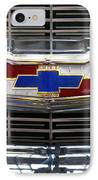 1956 Chevrolet Grill Emblem IPhone Case by Mike McGlothlen